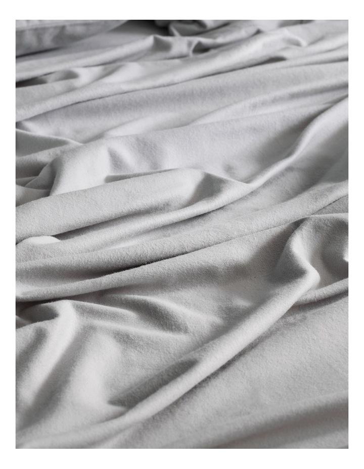 Flannelette Plain Dyes Sheet Set in Cloud Grey image 2