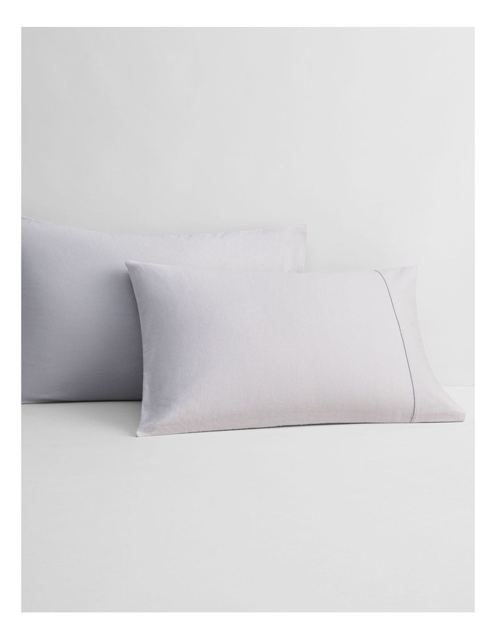 Flannelette Plain Dyes Sheet Set in Cloud Grey image 3