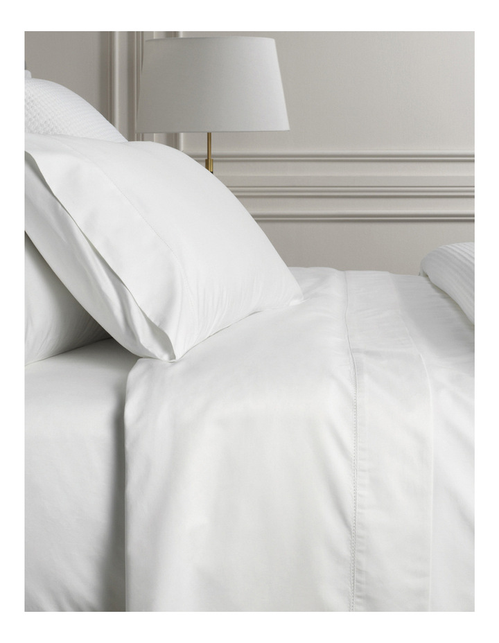 1000TC Hotel Weight Sheet Set in Snow image 1