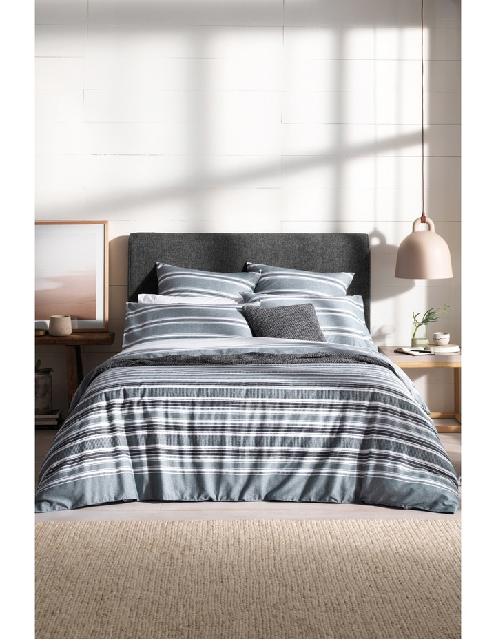 Alewyn Quilt Cover Range in Carbon image 1