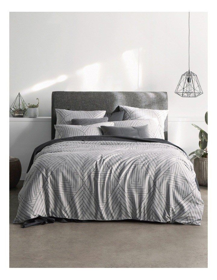 Hentley Quilt Cover Set in Monochrome image 1