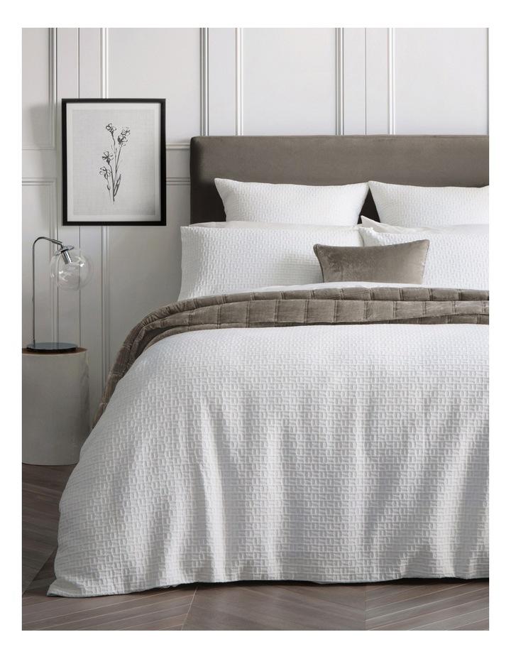 La Salle Quilt Cover in White image 1