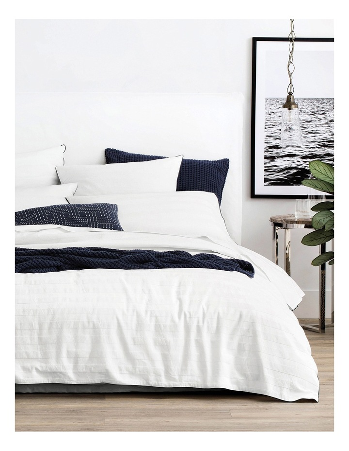 Antico Quilt Cover in White image 2