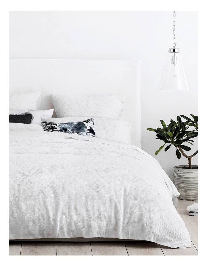 Hodges Quilt Cover in White image 1