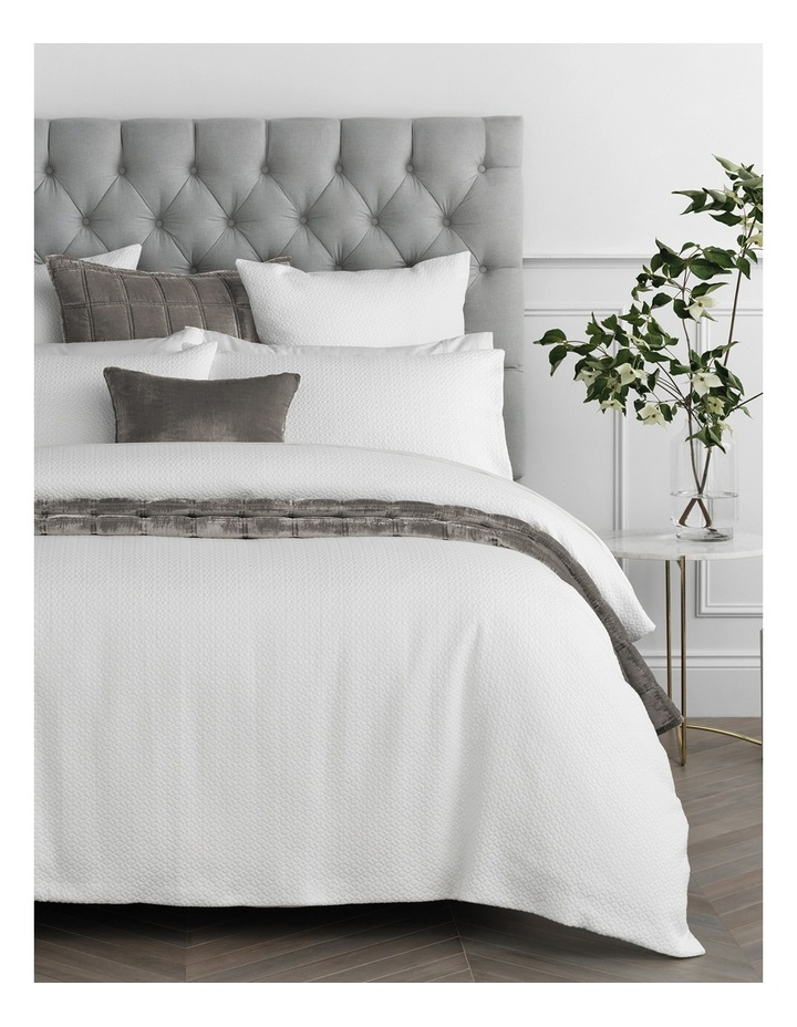Cormack Quilt Cover in White image 1