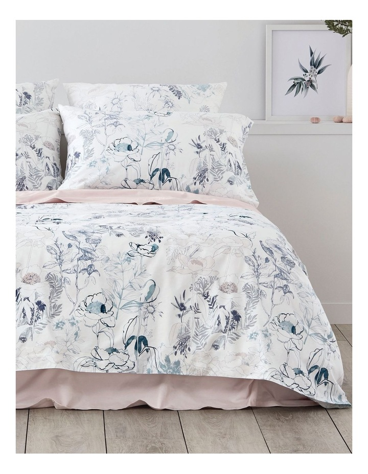 Bloombury Quilt Cover Set in Lake image 1