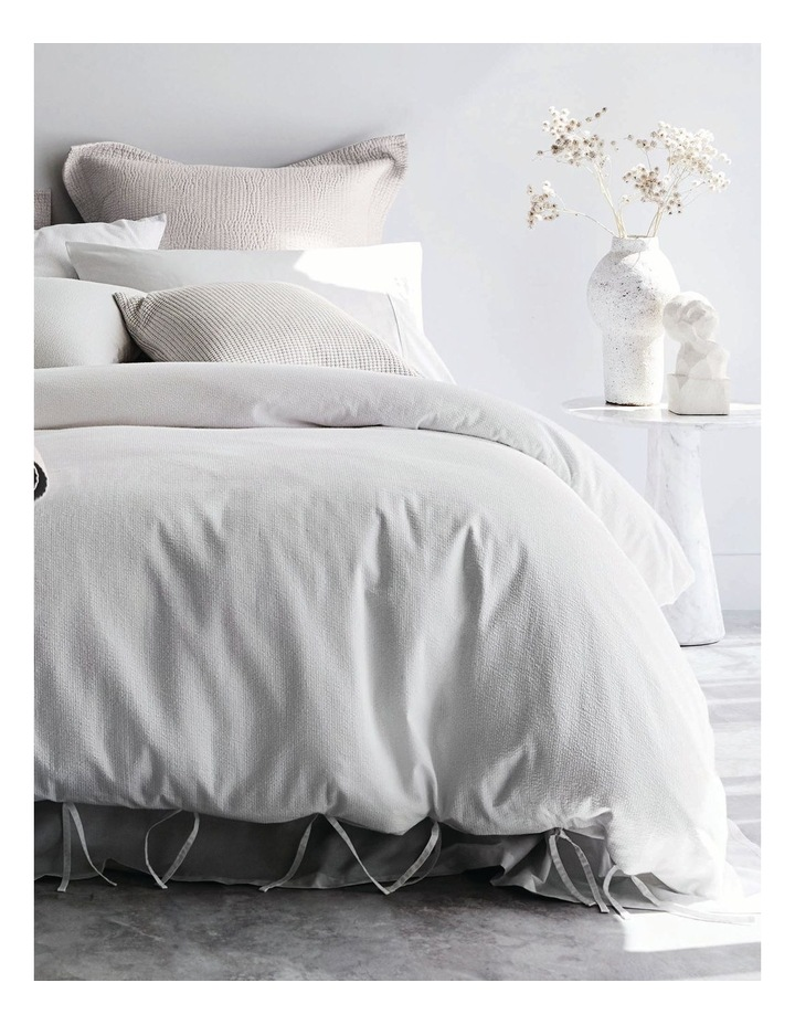 Marramas Quilt Cover in White image 1