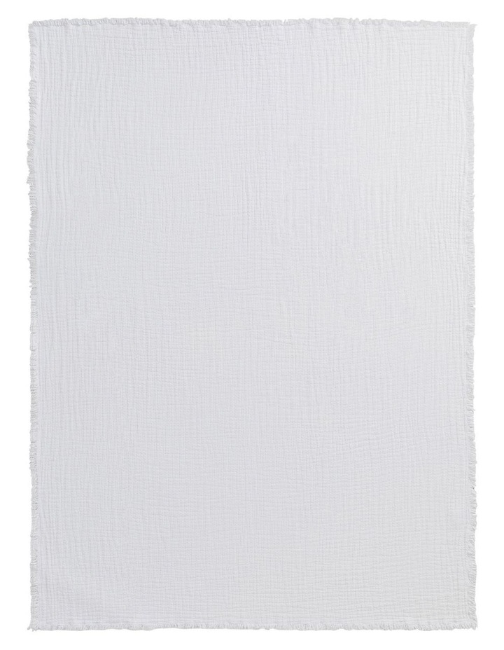 Sandy Bay Throw in White image 2