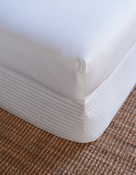 Classic Percale 300TC Cotton Quilted Bedskirt image 1