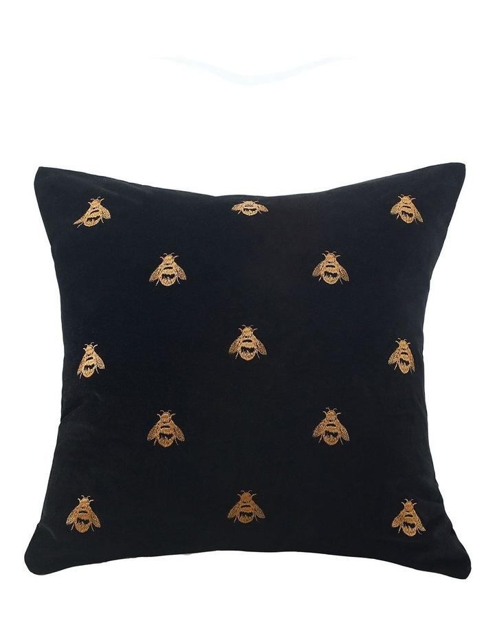 Buzz Cushion 50x50cm in Black image 1