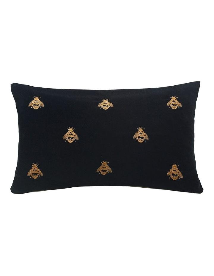 Buzz Cushion 30x50cm in Black image 1