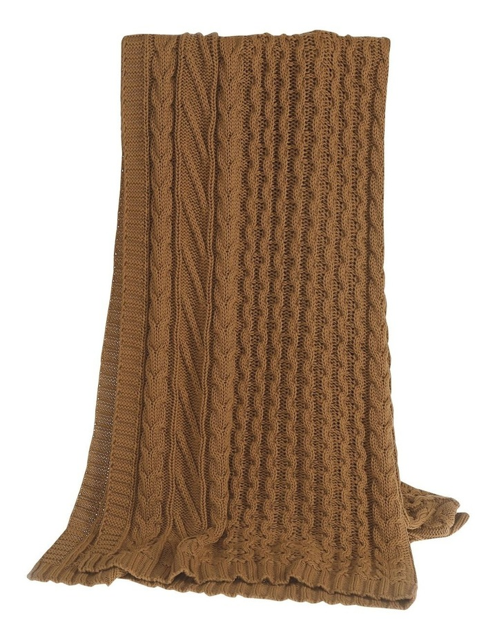 Cable Knit Throw in Spice image 2