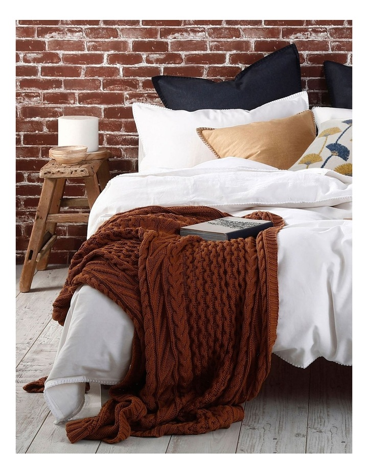 Cable Knit Throw in Spice image 4