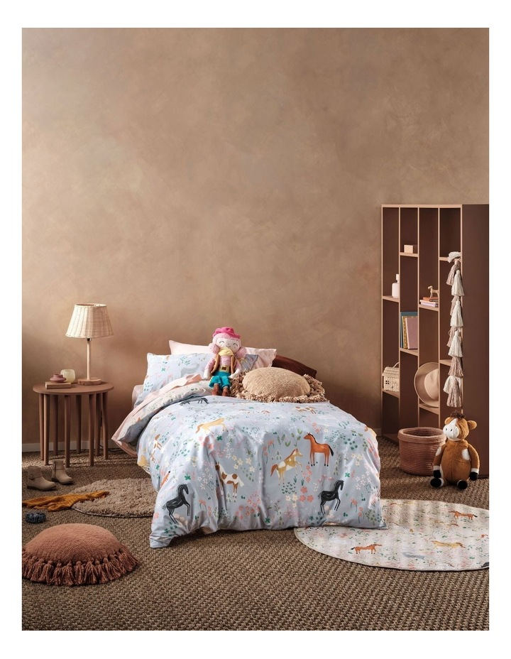 Horsemania Quilt Cover Set in Sky image 1