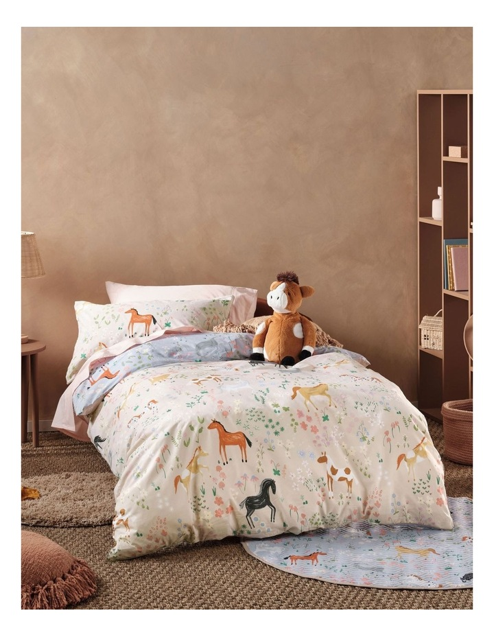 Horsemania Quilt Cover Set in Sky image 2