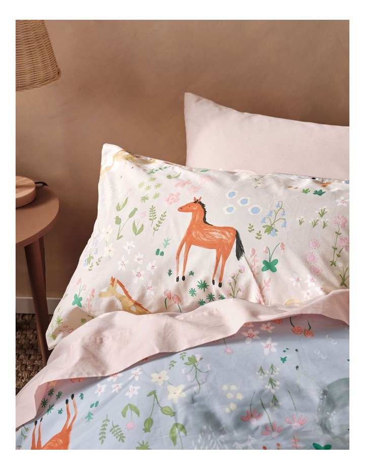 Horsemania Quilt Cover Set in Sky image 3