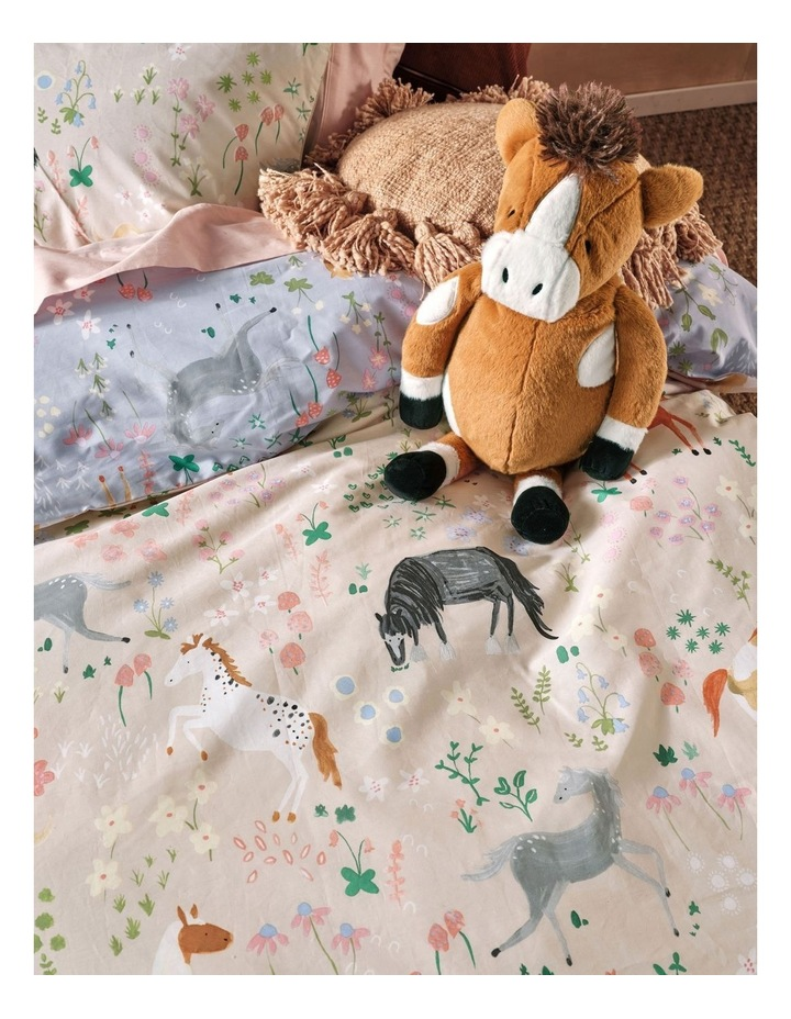 Horsemania Quilt Cover Set in Sky image 4