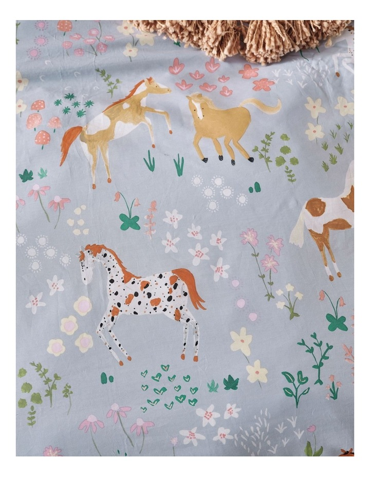 Horsemania Quilt Cover Set in Sky image 6