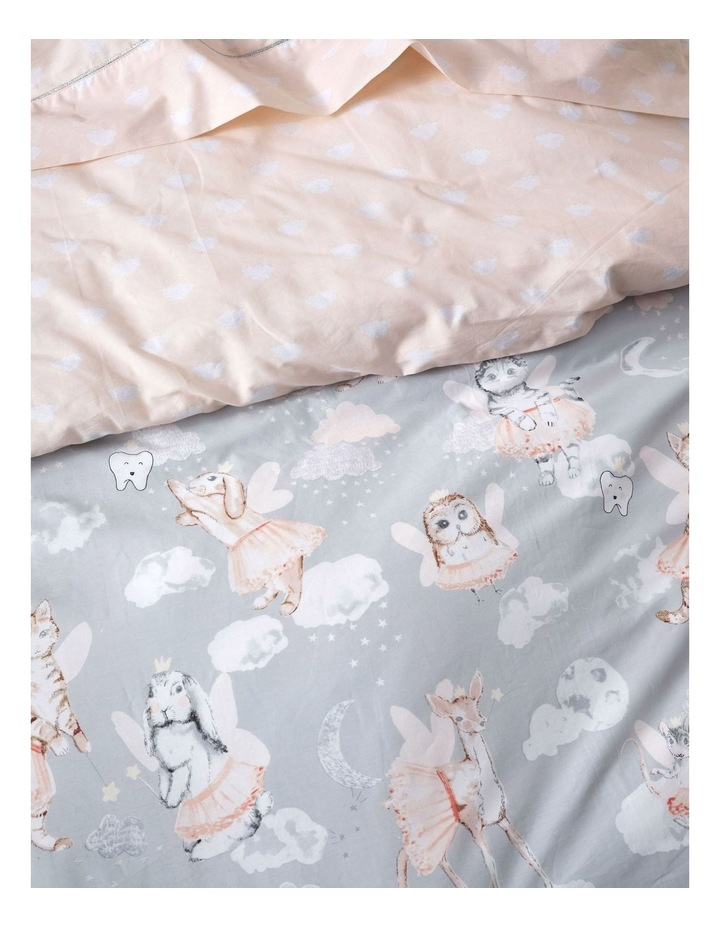 Wish Upon A Tooth Fairy Quilt Cover Set in Grey image 3