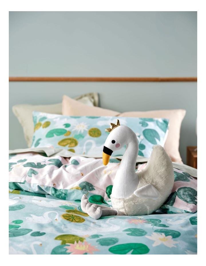 Pretty Swan Cushion In White image 2
