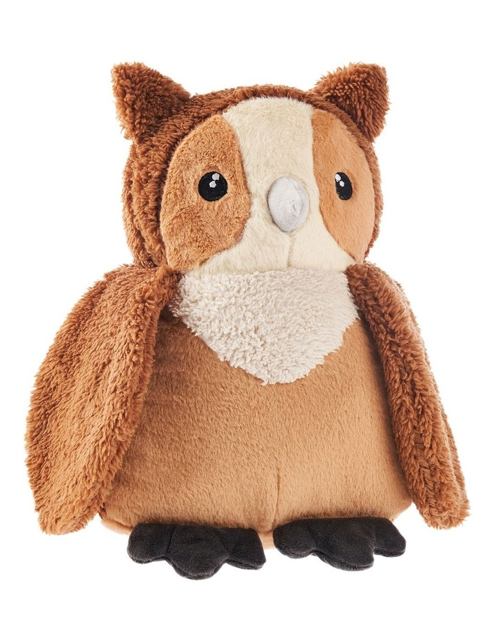 I'm a Hoot Cushion in Brown image 1