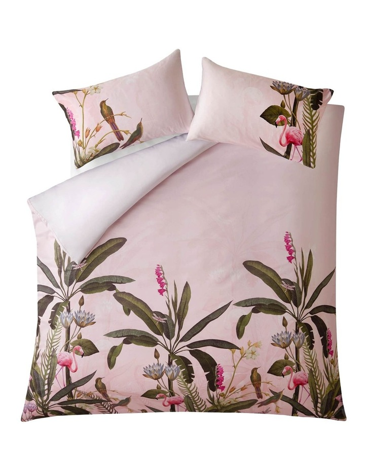 Pistachio Quilt Cover in Pink image 1