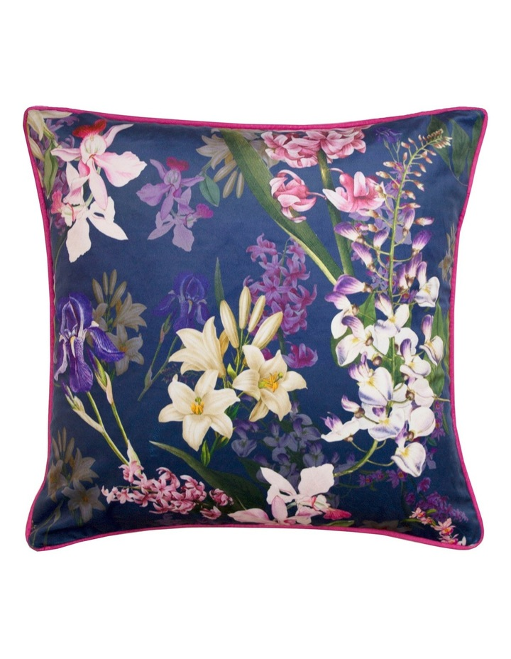 Botanical Floral Matte Velvet Cushion: Multi image 1