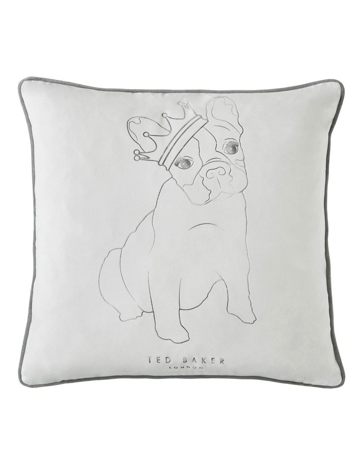 King Cotton Dog Cushion in White image 1