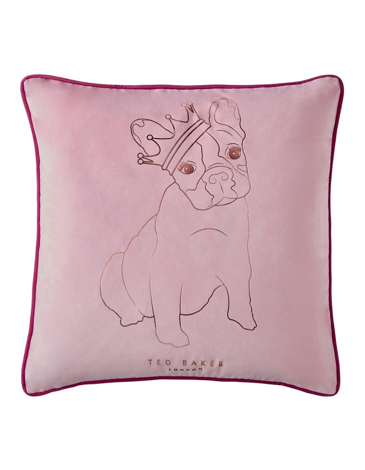 King Cotton Dog Cushion in Pink image 1