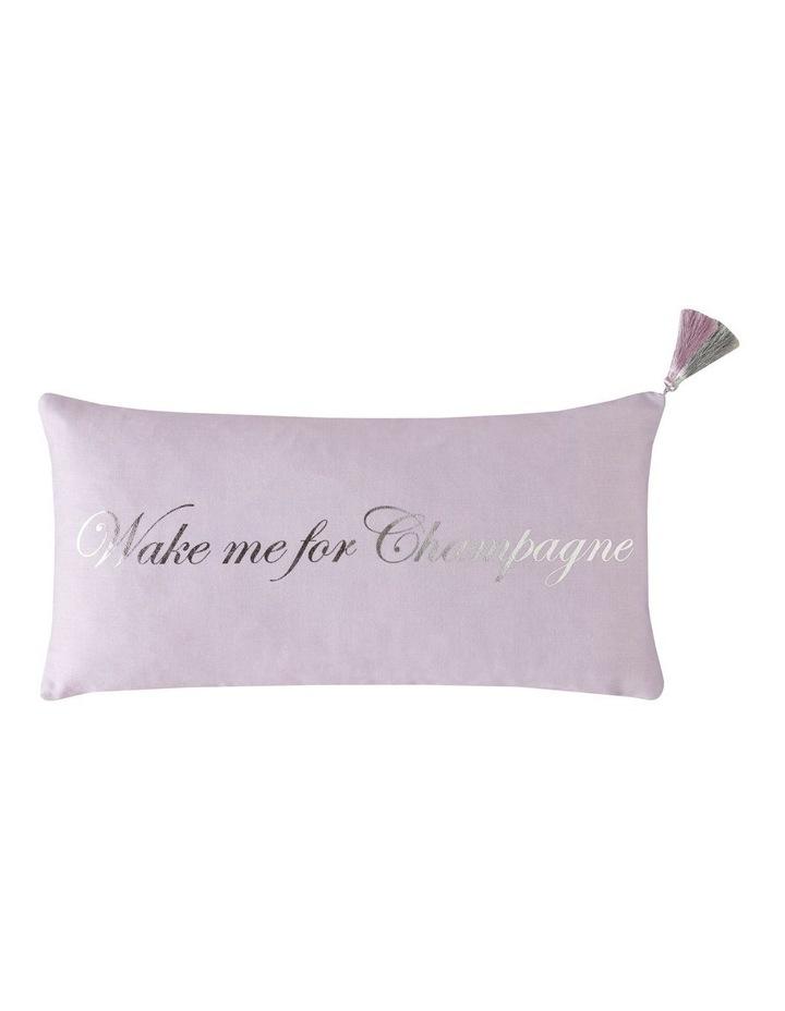 Wake Me Cushion in Pink image 1
