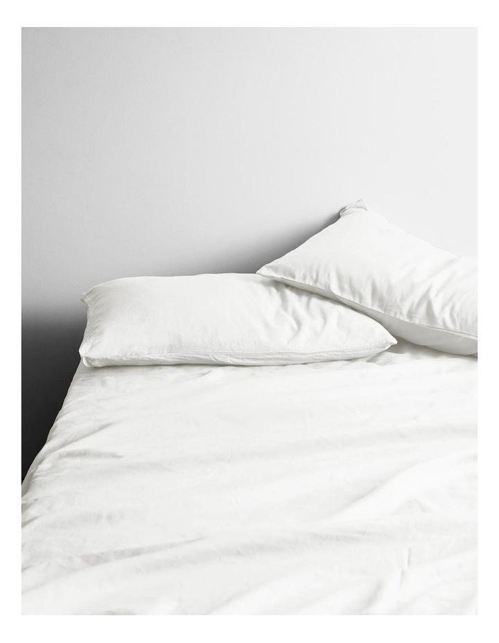 Halo Organic Cotton Sheet Set in White image 1