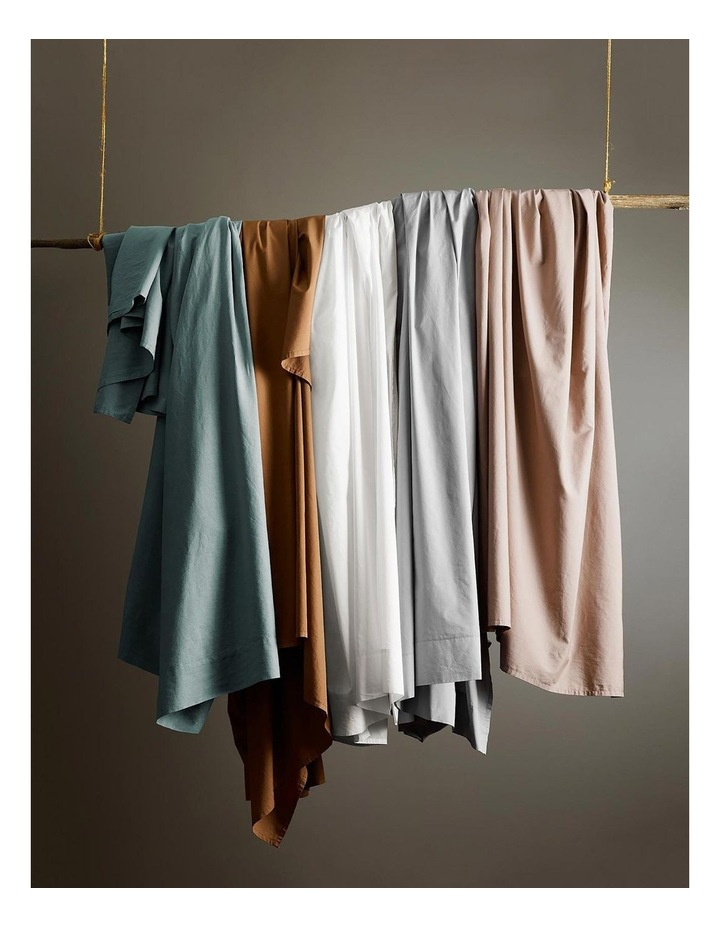 Halo Organic Cotton Sheet Set in White image 4