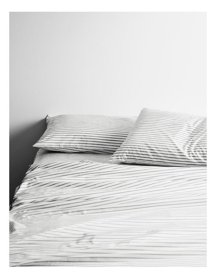 Vintage Stripe Sheet Set In Smoke image 1