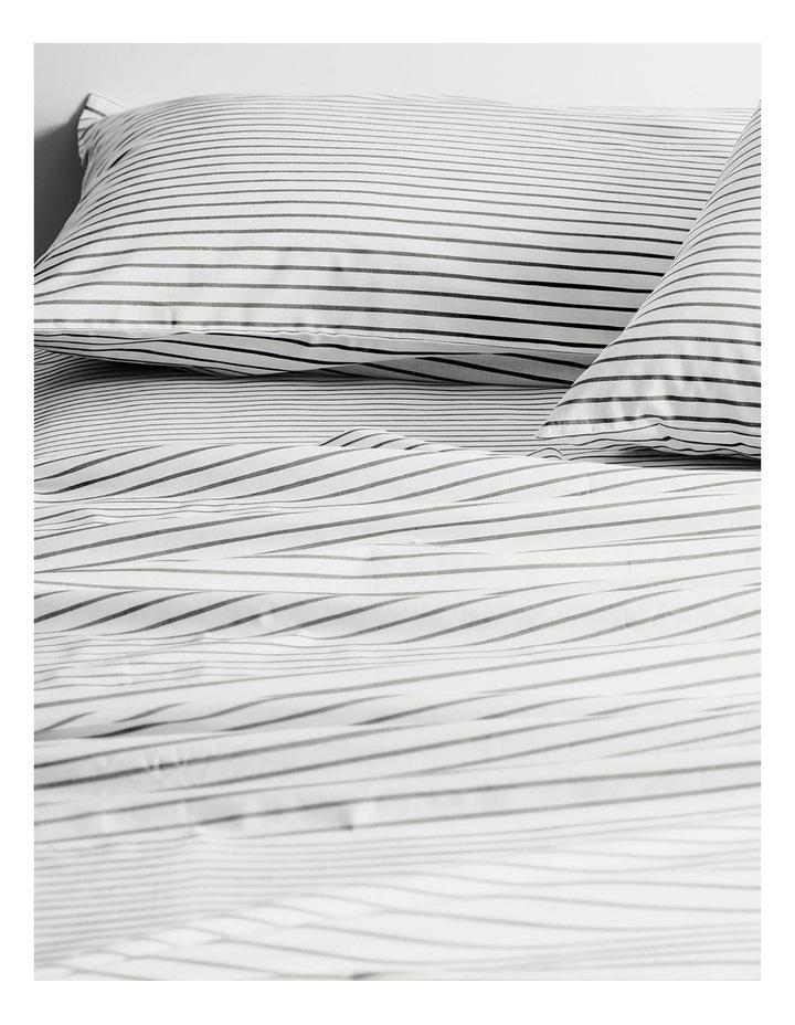 Vintage Stripe Sheet Set In Smoke image 2