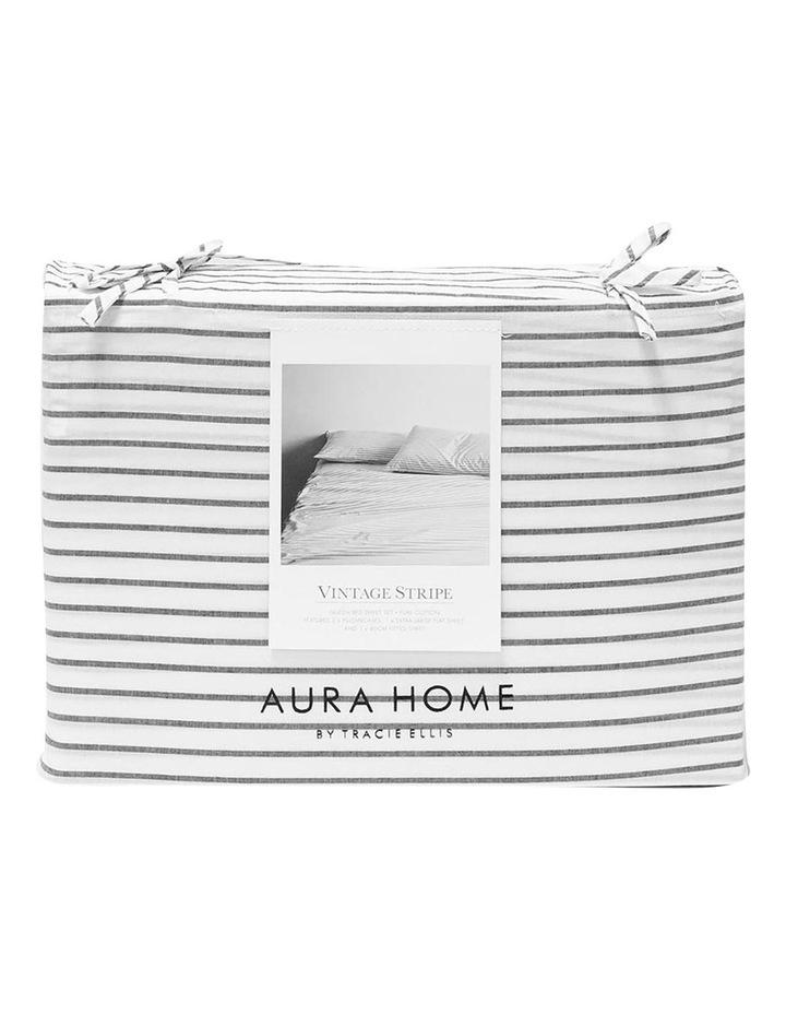 Vintage Stripe Sheet Set In Smoke image 4