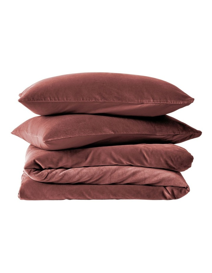 Luxury Velvet Quilt Cover in Mahogany image 4