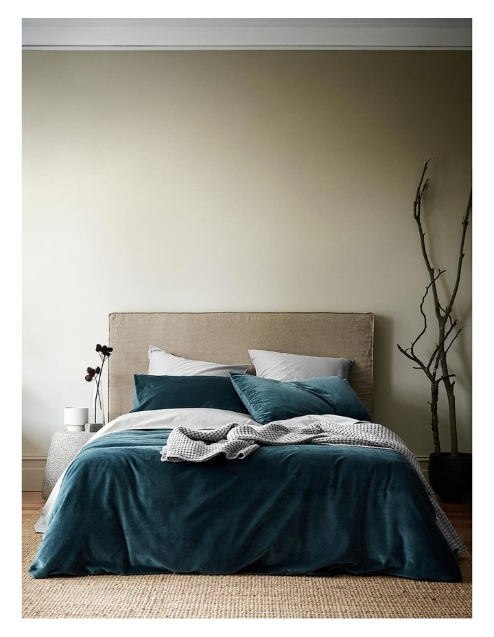 Luxury Velvet Quilt Cover in Indian Teal image 1