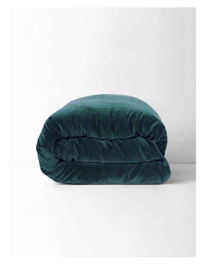 Luxury Velvet Quilt Cover in Indian Teal image 3