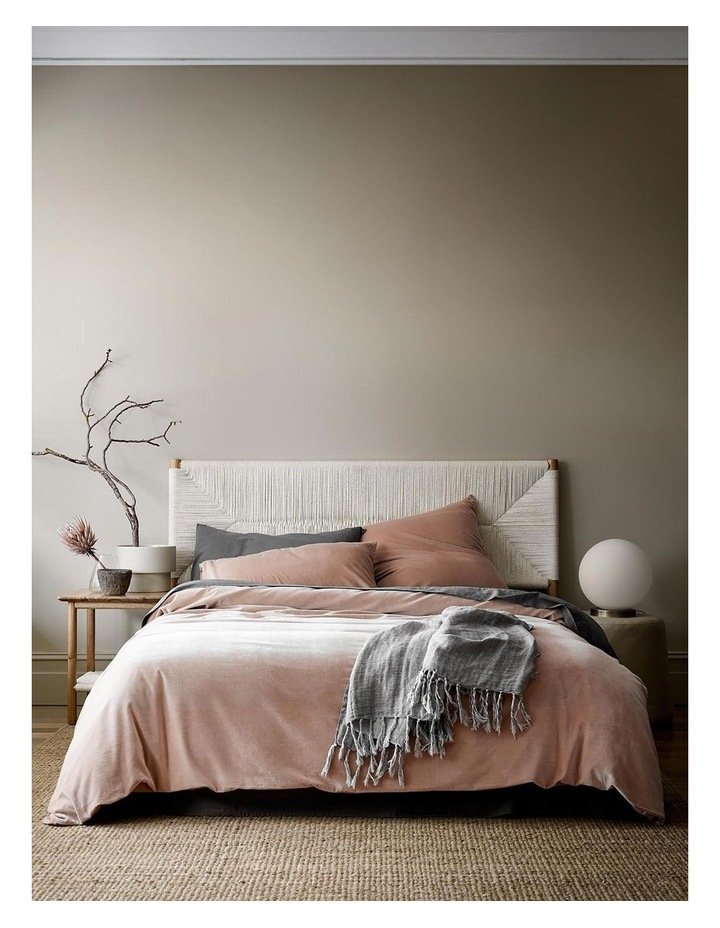 Luxury Velvet Quilt Cover in Rosewater image 1