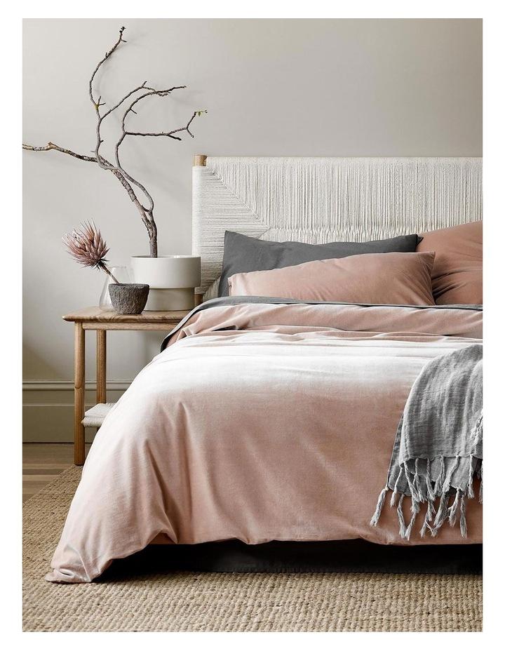 Luxury Velvet Quilt Cover in Rosewater image 2