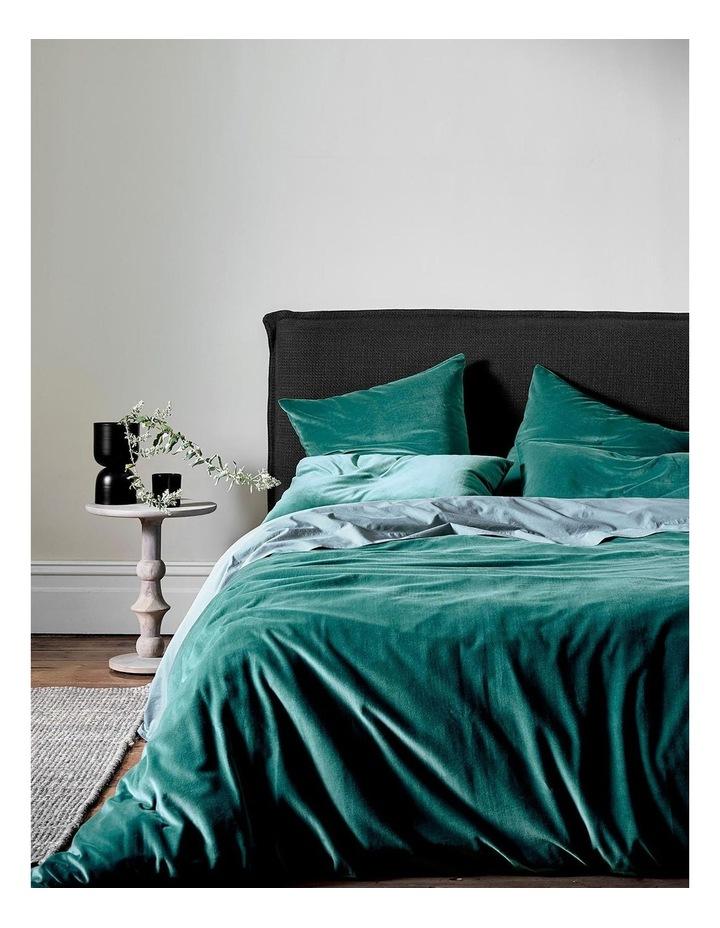 Luxury Velvet Quilt Cover in Forest Night image 1