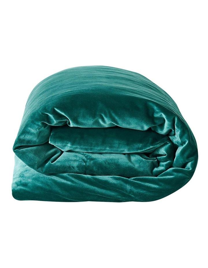 Luxury Velvet Quilt Cover in Forest Night image 3