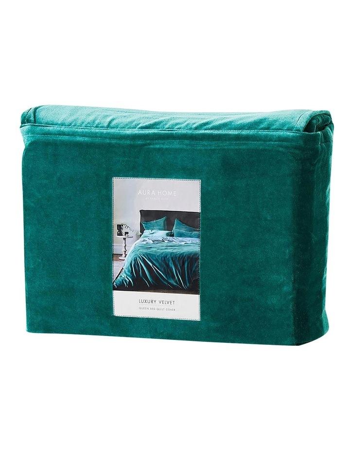 Luxury Velvet Quilt Cover in Forest Night image 4