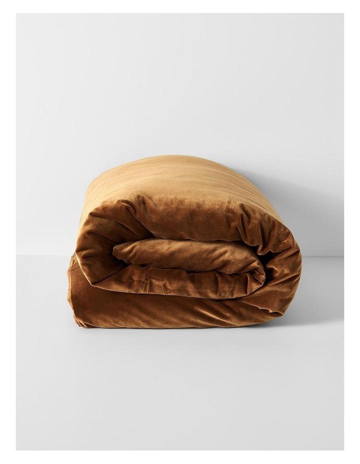 Luxury Velvet Quilt Cover in Tobacco image 3