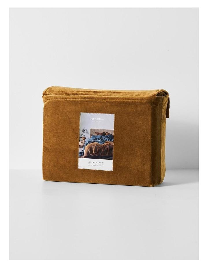 Luxury Velvet Quilt Cover in Tobacco image 4