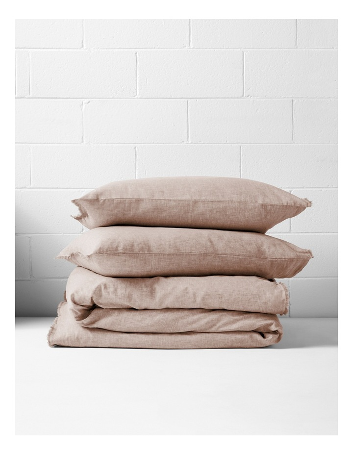 Chambray Fringe Quilt Cover Set in Pink Clay image 4
