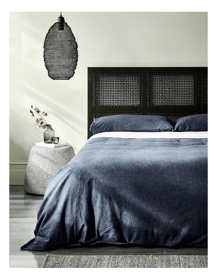 Chambray Fringe Quilt Cover - Ink image 2