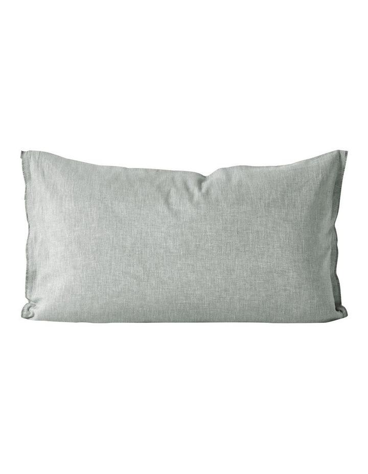 Herringbone Twill Quilt Cover in Limestone image 4