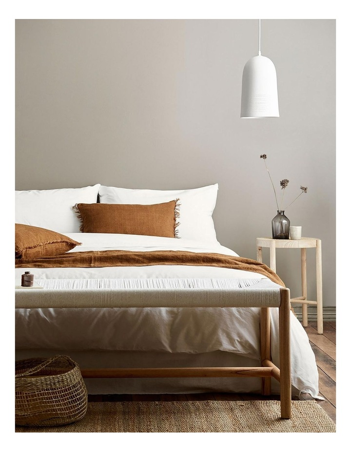 Halo Organic Cotton Quilt Cover in White image 2