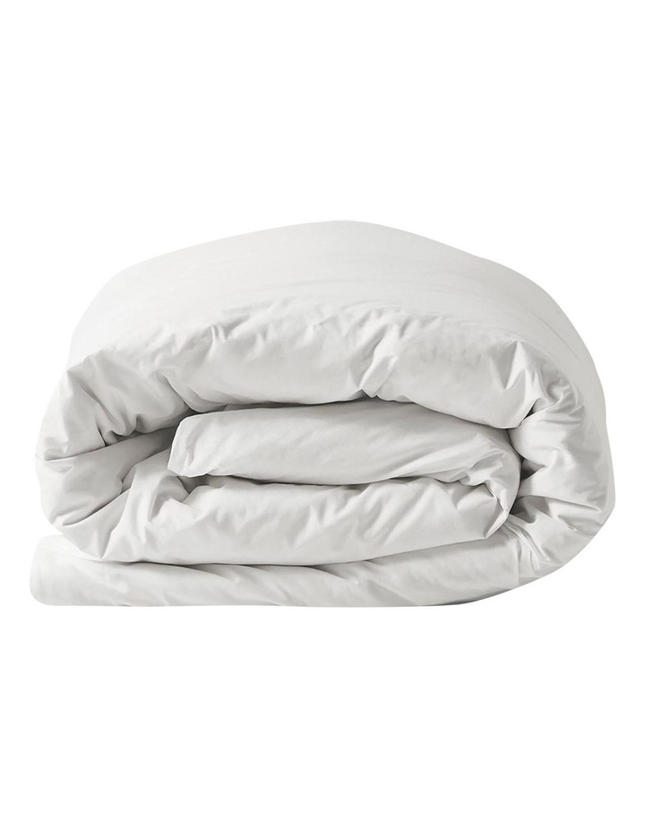 Halo Organic Cotton Quilt Cover in White image 3